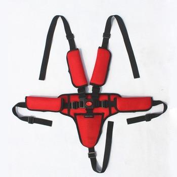 Three-point / Five-point Baby Child Safety Seat Harness Fixed Belt Baby Stroller Accessories Highchair Buckel Safety Belt Strap