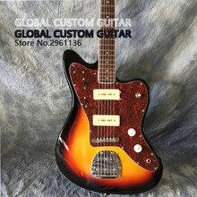 Jazzmaster Роскошная ягуаровая электрогитара S-P90 звукосниматель, гитара ra, цвет заката, все цвета доступны, реальные фото показ, бесплатная доставка