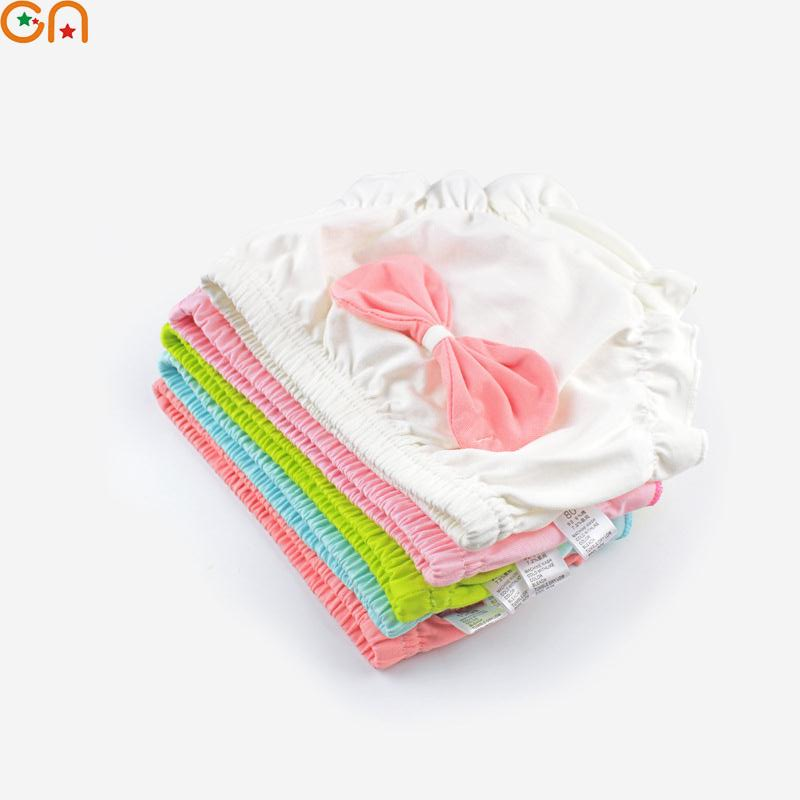 3Pcs/Lot Kids,Baby Cotton Underwear,Panties,Girl,Infant Solid,Bow,Lace shorts,Underpants,For Children,Newborns clothing gift CN