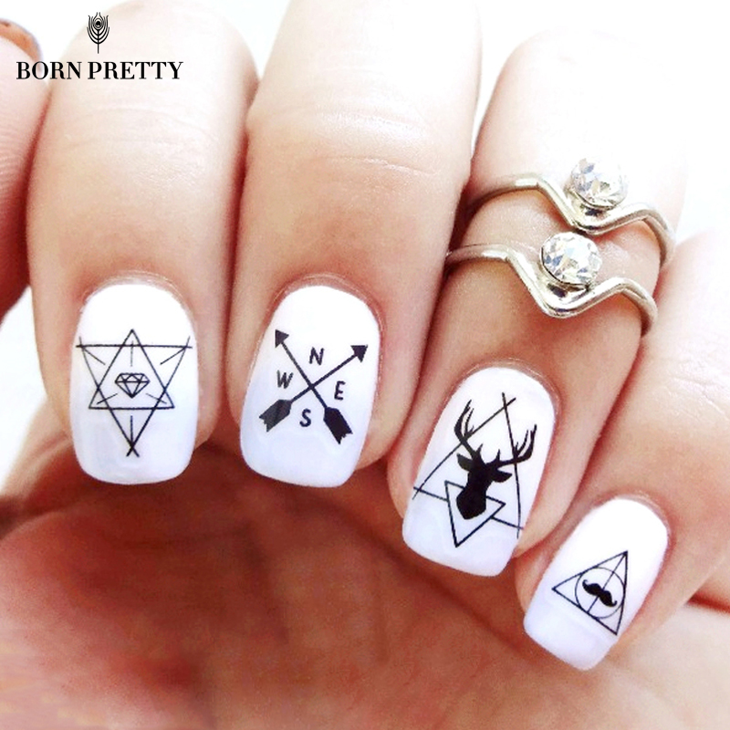 1 Sheet Ultrathin Adhesive 3D Nail Stickers Beard Mustache Water Decals Transfer Sticker 10.3*8cm Nail Art Decorations