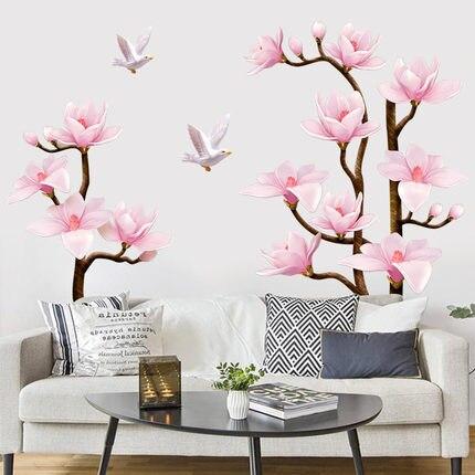 70*120 CM 3D fleur salon décor à la maison vinyle mur autocollant décoration de salle de mariage affiche Wallstickers adesivo de parede