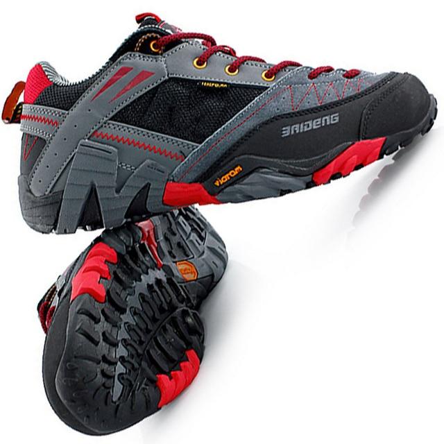 Baideng pria hiking sepatu berburu sepatu sneakers asli kulit berburu sepatu  pria sport pria kulit asli 02954b3774