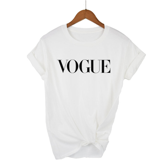 Women's Vogue Letters Printed T-Shirt