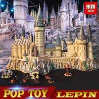 Lepin 16060 16042 Harry Movie Series The Legoinglys 71043 Hogwarts Castle Set Building Blocks Bricks House Model Christmas Toys