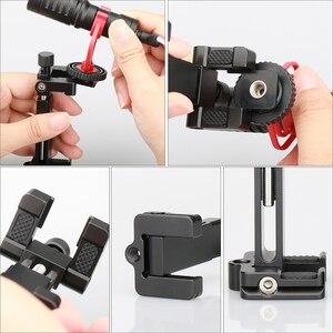 Image 5 - Ulanzi abrazadera de montaje para trípode de teléfono ST 03, adaptador de soporte para teléfono inteligente con zapata fría para iPhone X 7, Samsung, Xiaomi BY MM1, luz Led