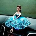 Кукла + Платье/set, 2016 Новый 12 Совместное Подвижные Куклы + Синий Павлин Платье + Колье + обувь/Для Автомобилей Стайлинг Украшения Barbie
