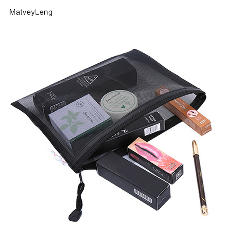Casual Travel Cosmetic Bag Women Zipper Make Up Transparent Makeup Case Organizer Storage Pouch Toiletry Beauty Wash Kit Bags 3pcs set women transparent cosmetic bag clear zipper travel make up case makeup beauty organizer storage pouch toiletry wash bag page 6