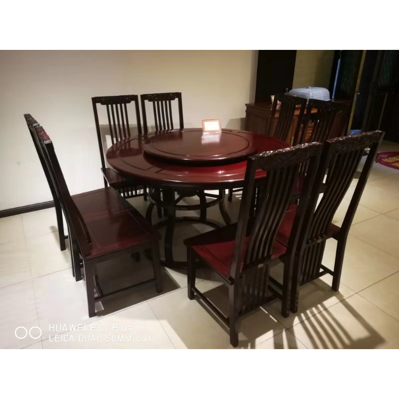 1 38m Round Table Dining Redwood