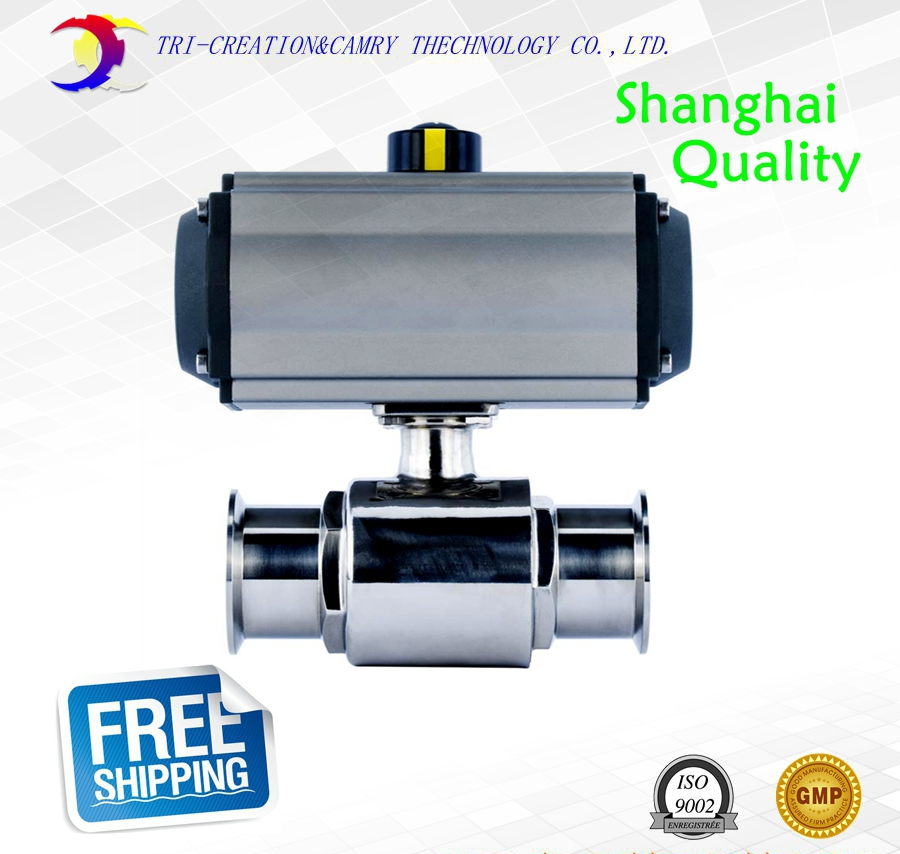 3/4 DN15 sanitary stainless steel ball valve,2 way 316 quick-install/food grade pneumatic valve_double acting straight way 2 sanitary stainless steel ball valve 2 way 304 quick installed food grade pneumatic valve double acting straight way valve