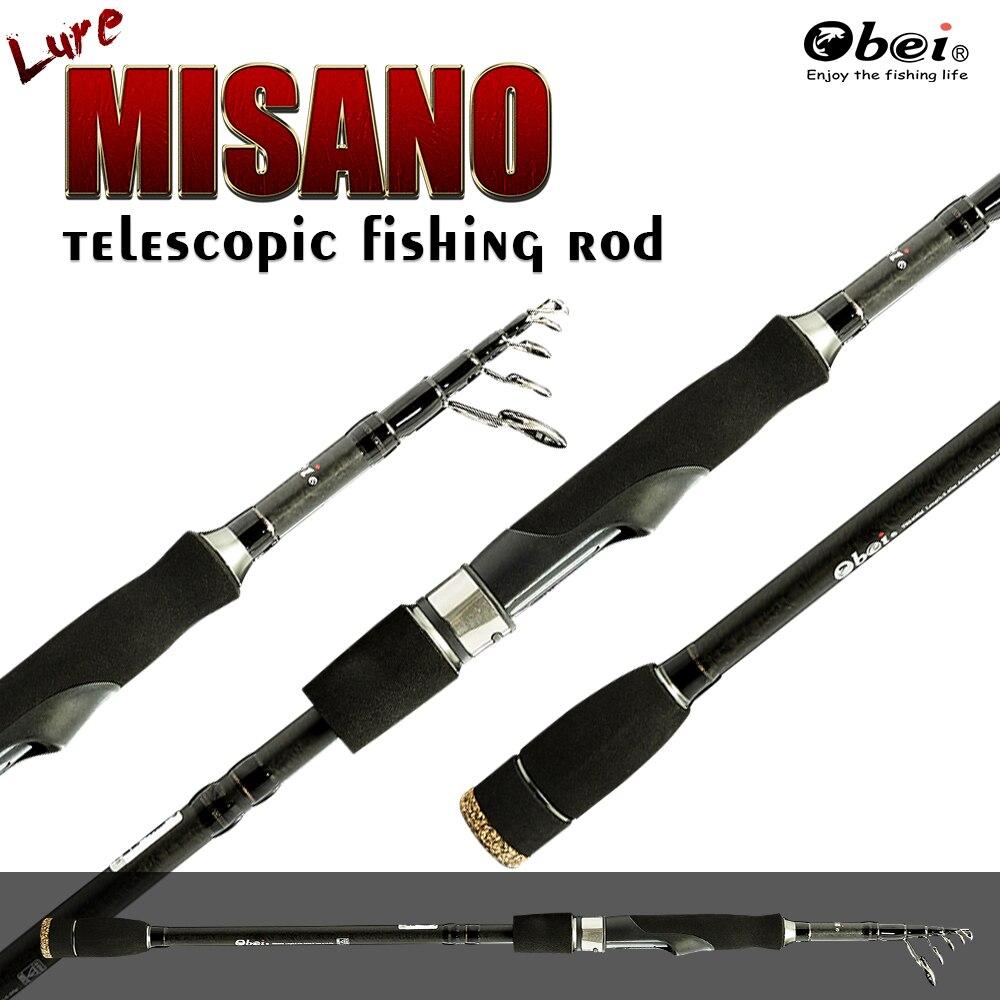 Telescópica Vara de Pesca Isca de Alta Qualidade Ultra Light Fiação Hastes Mar ML Mini Equipamentos Viagem Portátil 2.10 m 2.40 m OBEI