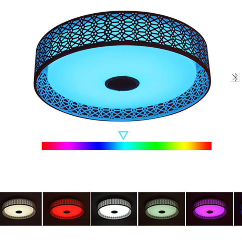 Modern Bluetooth Speaker LED Ceiling Light Remote Control RGB LED Music Lamp Dimmable Living Room Lighting lamp Smart APP - 6