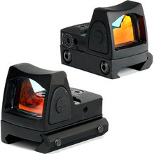 Taktis Mini RMR Red Dot Sight Reflex Scope fit 20mm Picatinny Weaver Rail Mount Untuk Airsoft Berburu Rifle Riflescope