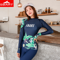 SBART 4 piece Rashguard Swim Tight Shirts Women Pants Surf Split Wetsuit Swimwear UV Prevention Jellyfish Beach Clothing suits