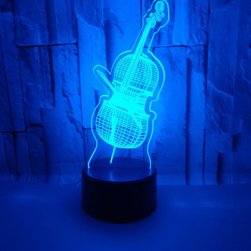 Violin 3D LED USB Lights Colorful Decorative Lamp Cool