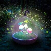 Ultra Magic Garden Dimmable de La Lámpara de Luz Nocturna Portátil Mushroom Led Sensor Táctil Noche Luces de Bajo Consumo de Electricidad LED Nigh