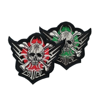 3pcs/lot 3D high quality 100% Embroidery patches Loop And Hook The death terminator patches magic stickers The terminator