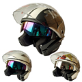 Double Lens Motorcycle  Open Face Helmet Capacete Casco Motor Casque Wins 803
