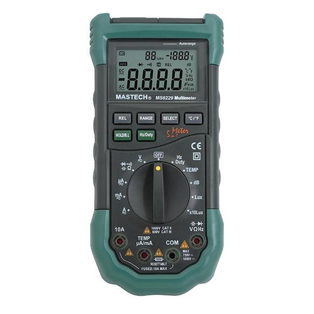 Mastech MS8229 5-en-1 Multi-funcional de Auto-Rango Multímetro Digital