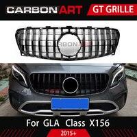 Авто Передняя решетка подходит для новых Mecedes GLA X156 класса подтяжку лица GLA200 GLA250 GLA260 обвес шрифт бампер гонки решетка