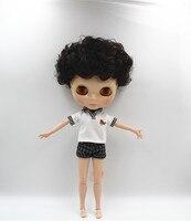 Blygirl Czarne włosy krótkie włosy nude Blyth doll lalka 30 cm wspólny organ 19 wspólne DIY doll może zmienić makijaż zabawki prezent