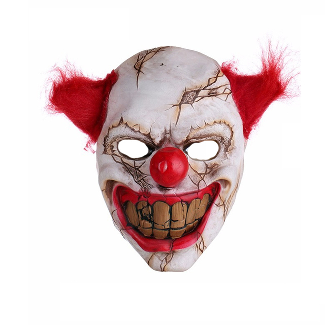 Horror Halloween Mask Latex Clown Full Face Adult Cosplay Mask Halloween  Theme Party Masquerade Props Decoration Hot Sale CKI34