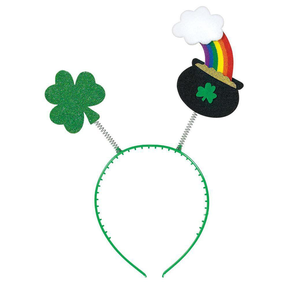 Green Shamrock Rainbow Headgear For St Patrick's Day