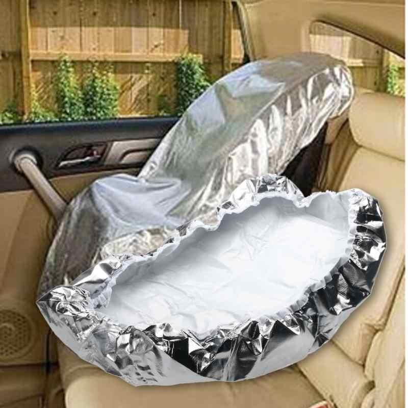 รถเด็กที่นั่ง Sun Shade สำหรับเด็กอลูมิเนียมฟิล์มบังแดด UV Protector ฝุ่นฉนวนกันความร้อน 80x70 ซม.
