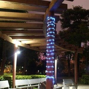Image 4 - 10 m led 태양 강화한 끈 요정 빛 구리 철사 관 빛 정원 거리 집 나무를위한 옥외 장식적인 휴일 점화