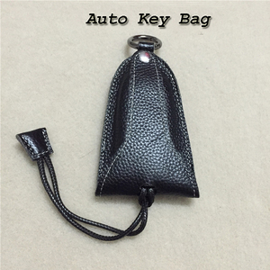 Image 2 - Genuine Cow Leather Men & Women Car Key Bag with Black Color Auto Key Protector Holder for BMW Key Case for VW Key Wallet