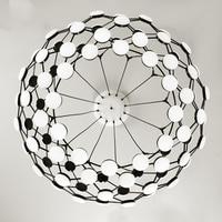 Modern black white Chess pieces Pendant Light globe earth creative hanging Lamp Lamparas droplamp Modern droplight white