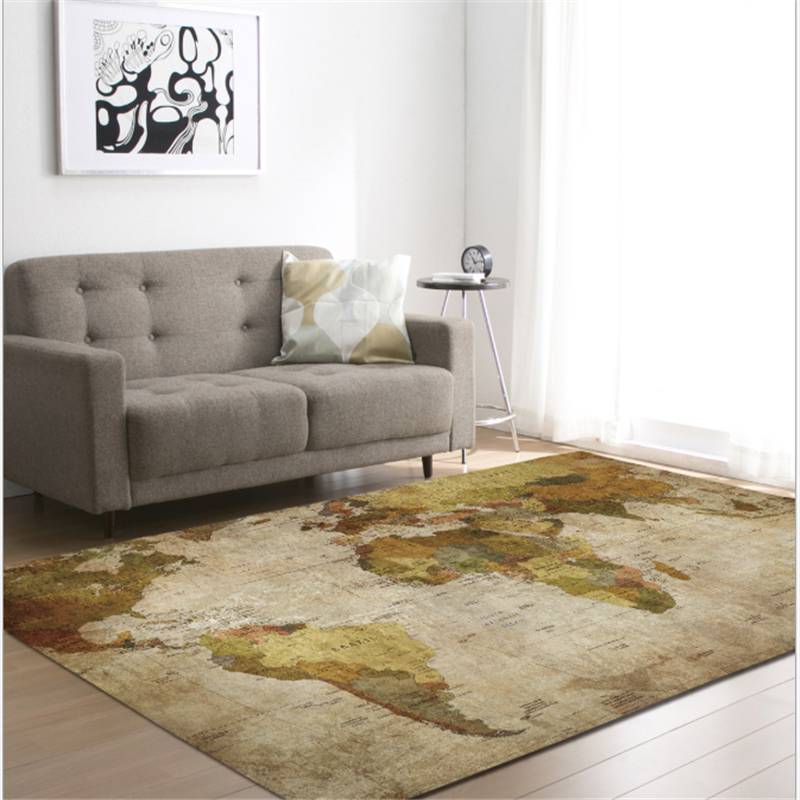AOVOLL 2019 Map Carpets For Living Room Bedroom Dining Mat Rugs And Carpets For Home Living Room Carpets For Kid Room Floor Mats
