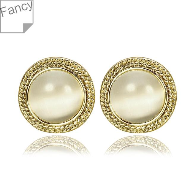 Earrings Fashion Jewelry Gold Unusual Design Opal Crystal Women S Free Shipping Kiie Lgpe952