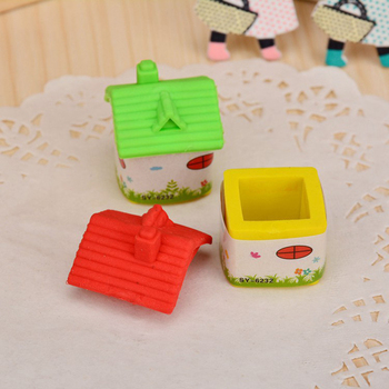 South Korean students stationery lovely modelling lifelike house eraser opening gifts student award prizes Exquisite image