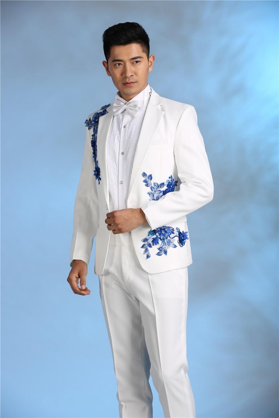 Latest Coat Pant Designs Royal Blue Velvet Men Suit Double Breasted ...