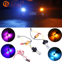 Dual Color LED Turn Signal Light DRL BAY15S 1156 20SMD Pink Red Ice Blue Blue White