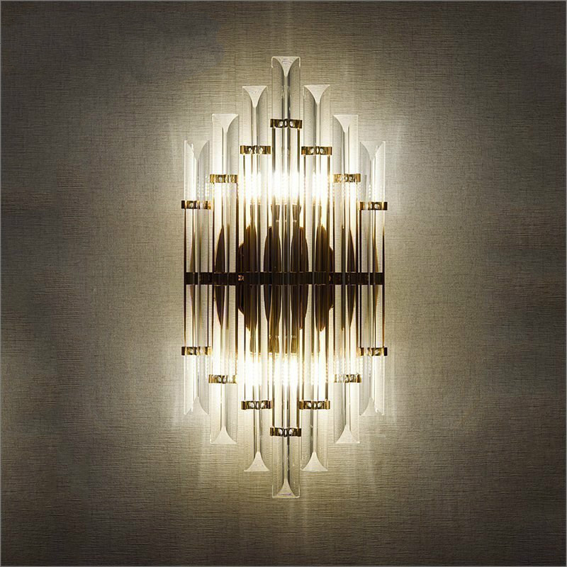 LED Crystal Wall Light Sconce Bedside Bedroom Lamps Silver Gold With E14 Bulb