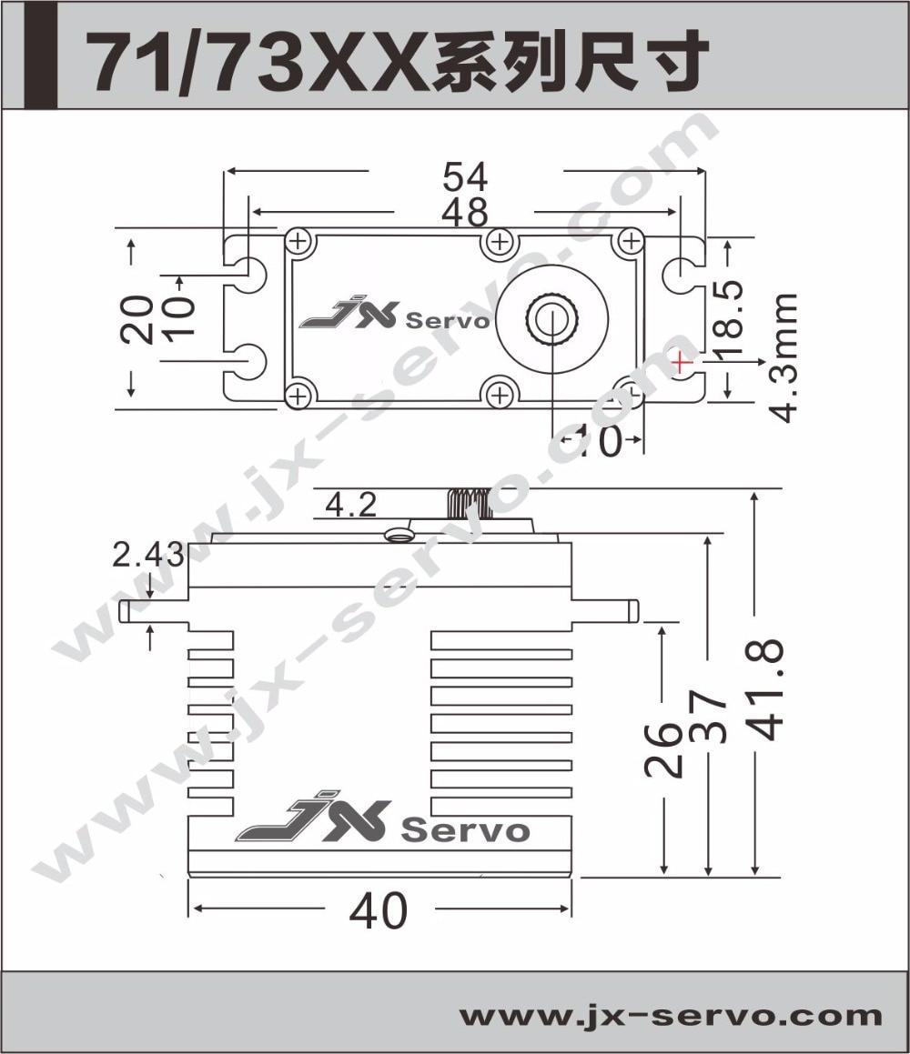Original JX Servo BLS-12V7146 12V HV Steel Gear Full CNC Aluminium Shell Coreless Servo for helicopter waterproof