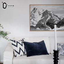 Mountain Chinese canvas painting wall pictures for living room zen home decoration NO Frame