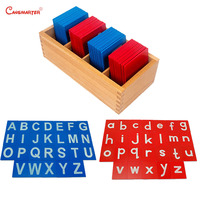 Blue Red Letters Alphabet Montessori Math Game Toys Safe Wooden Materials Children Language Learning Toy Educational LA008 3