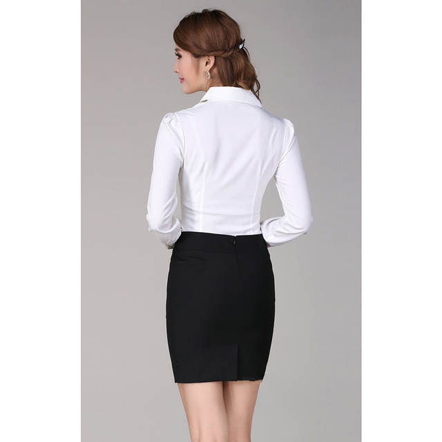 405537a0f98d3 Online Shop 5xl plus size blusa feminina 2019 pleated front chemise femme puff  sleeve white ladies office shirt women formal blouses C254
