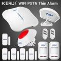 KERUI W1 WIFI сигнализация домашняя PSTN защита от взлома интеллектуальная система Android IOS приложение управление Беспроводной занавес детектор сир...