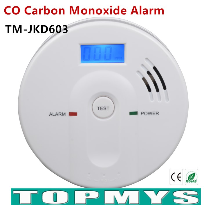 Free Shipping carbon monoxide detector EN50291 co detector with LCD Display Home security Poisoning Smoke Gas Detector TM-JDK603 digital co2 monitor detector gm8802 gas detector 3 in1 carbon dioxide temperature humidity detector with lcd backlight display