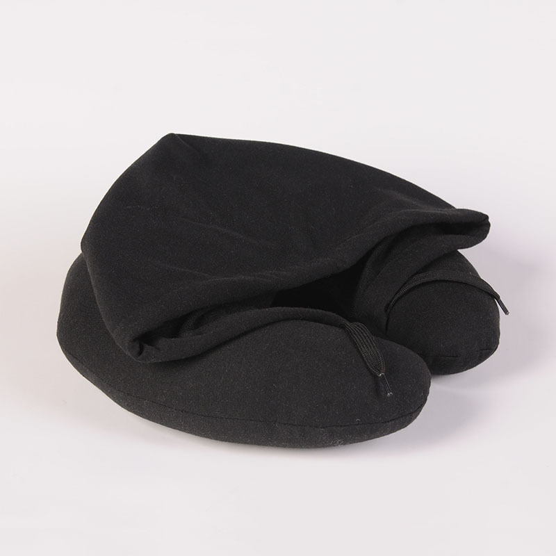 New U-Shape Cushion Hooded Car Neck Pillow Travel For Airplane Comfortable Pillows For Sleep Home Textile Travel Accessories