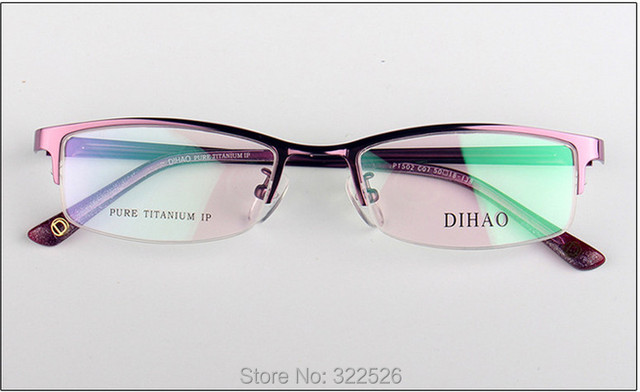 312668a7e7 Wholesale High quality Fashion Women half rim Pure Titanium Eyeglasses frame