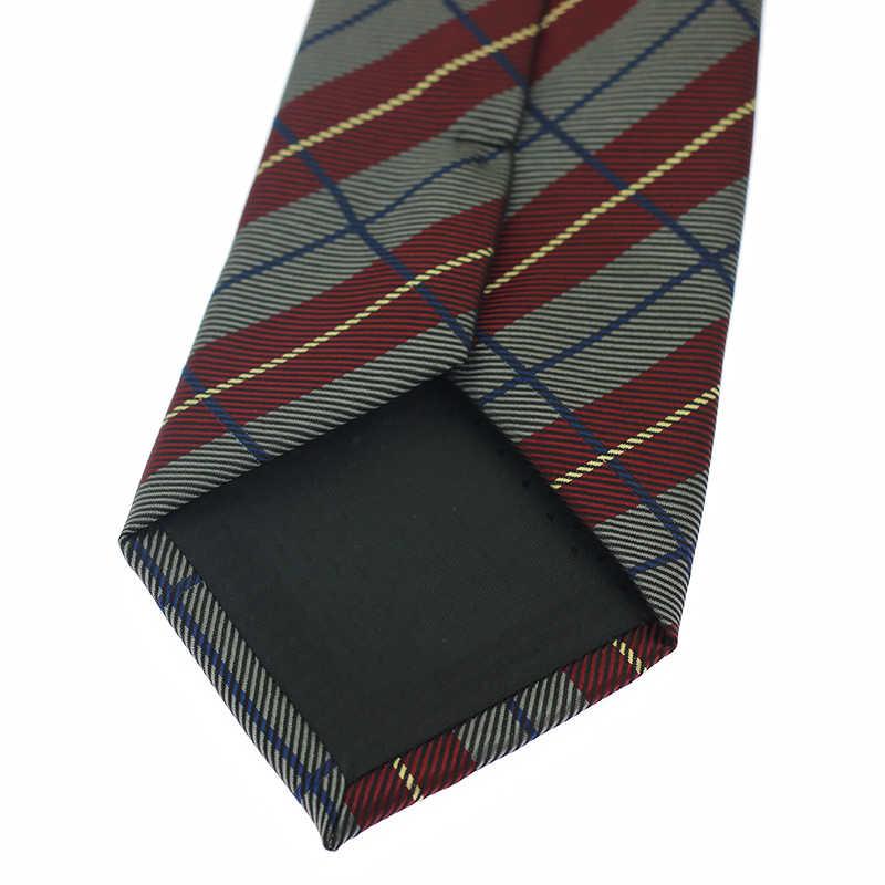 グレー赤 8 センチメートルメンズネクタイネクタイ衣類付属品のスーツウェディング男性ファッションギフトシルクネクタイ