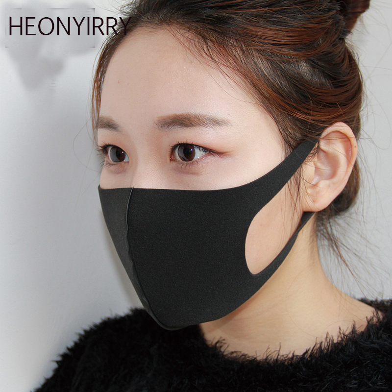 Apparel Accessories Face Mask Cotton Mouth Mask Black Anti Haze Dust Masks Filter Windproof Mouth-muffle Bacteria Flu Fabric Cloth Respirator High Quality