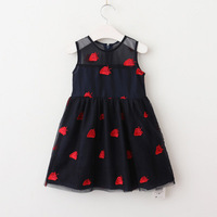 Vieeolove Baby Girls Kids Dresses Clothing Tutu Lace 2018 New Summer Dresses Childrens Floral Sleeveless Vest
