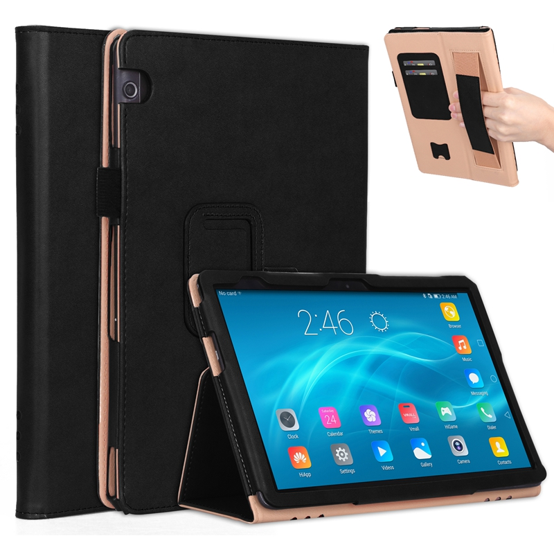 Luxury Book Flip Cover Case For Huawei Mediapad T5 AGS2-W09 AGS2-L09 AGS2-L03 AGS2-W19 10.1