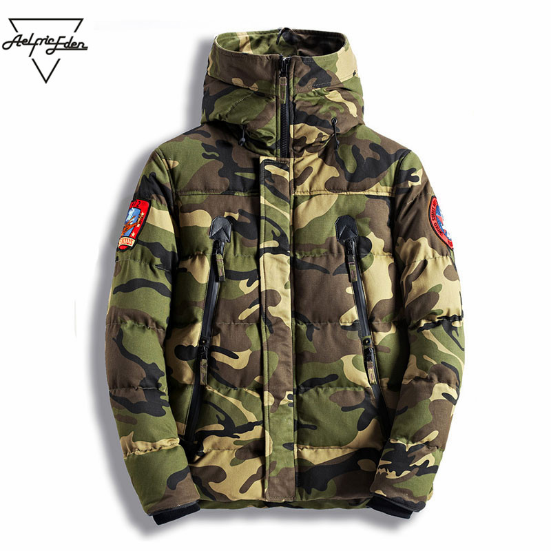Aelfric Eden Hooded Parka Camouflage Green Grey Parkas Tactical Jacket British Style Thick Padded Parkas Winter Outerwear Mt005 nike alliance parka 550 hooded