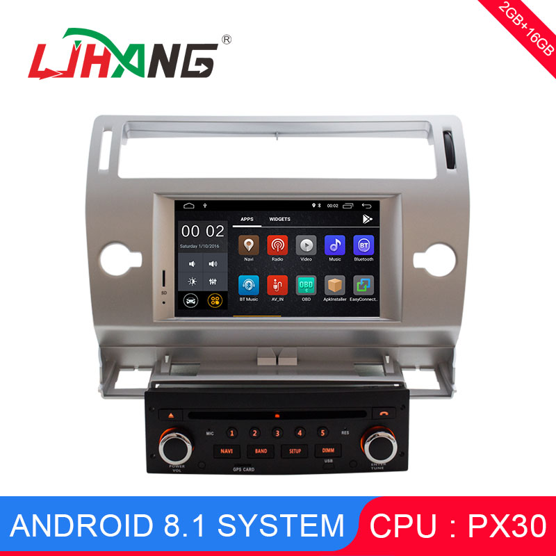 LJHANG 7 Inch 1 din Android 8.1 Car DVD Player For Citroen C4 C Triomphe C Quatre Auto Radio GPS Navigation headunit Stereo WIFI